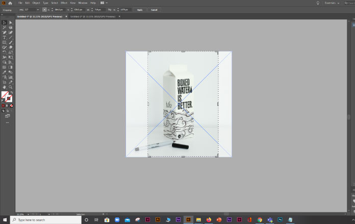 Crop an Image using Adobe Illustrator